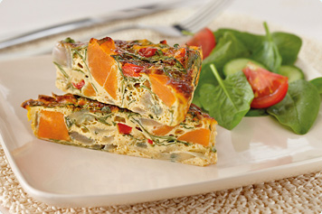 Sweet Potato, Capsicum And Spinach Frittata Recipe