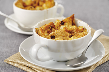 Teacup Apple And Raisin Bread Puddings Recipe