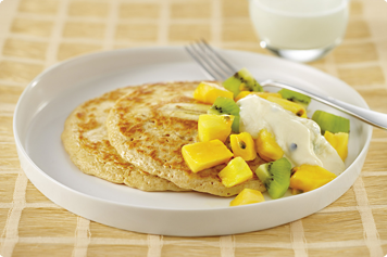 Banana Hotcakes With Tropical Fruit And Yoghurt Recipe