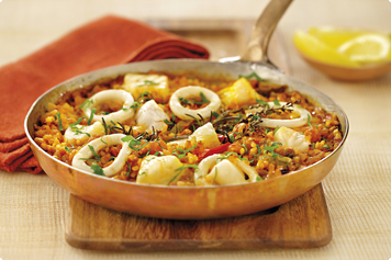 Seafood Paella Recipe - HeartActive®