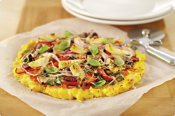 Mediterranean Polenta Pizza Recipe